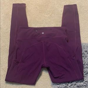 Purple LULULEMON leggings size 6